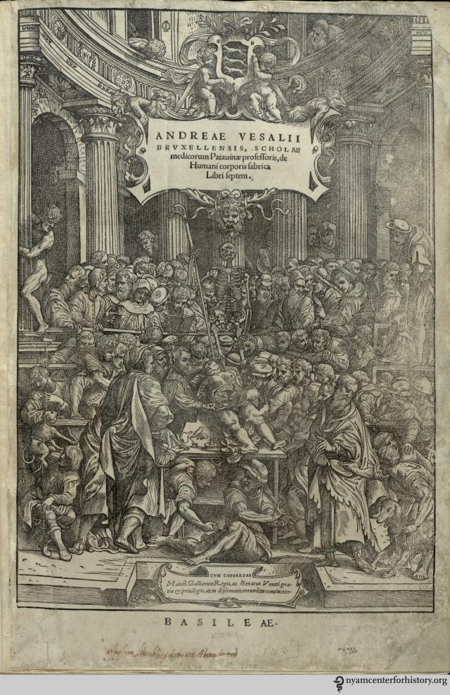 Vesalius Fabrica Frontispiece 1543