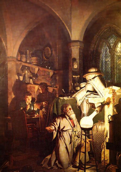 Joseph Wright The Alchemist (Wikimedia Commons)