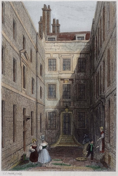 Crane Court, from an engraving by C.J. Smith