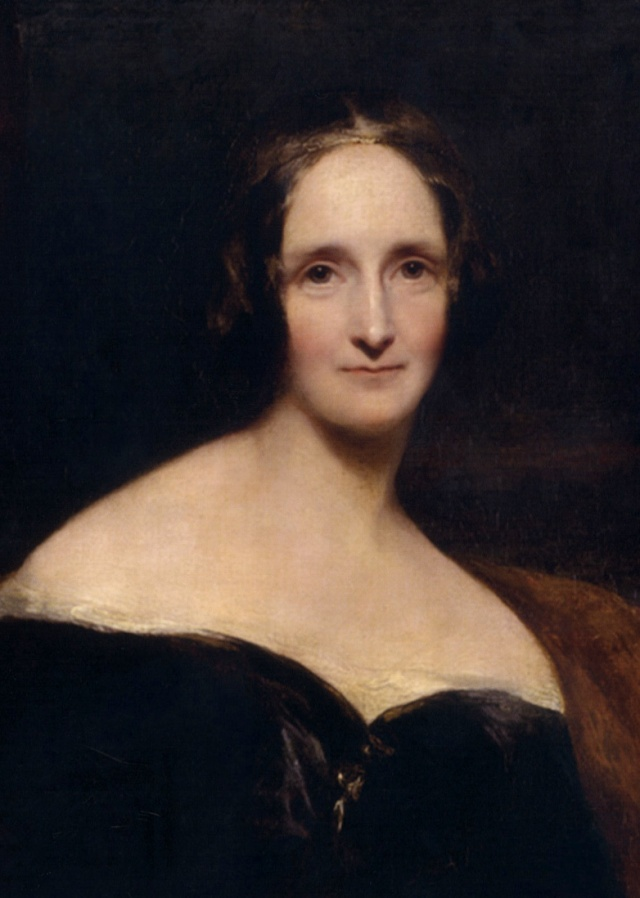 Mary Shelley, by Richard Rothwell, 1840
