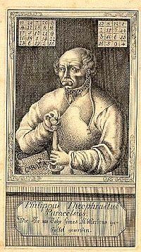 Paracelsus is credited with the first mention of the homunculus in De homunculis (c. 1529-1532), and De natura rerum (1537). Wikipedia Commons