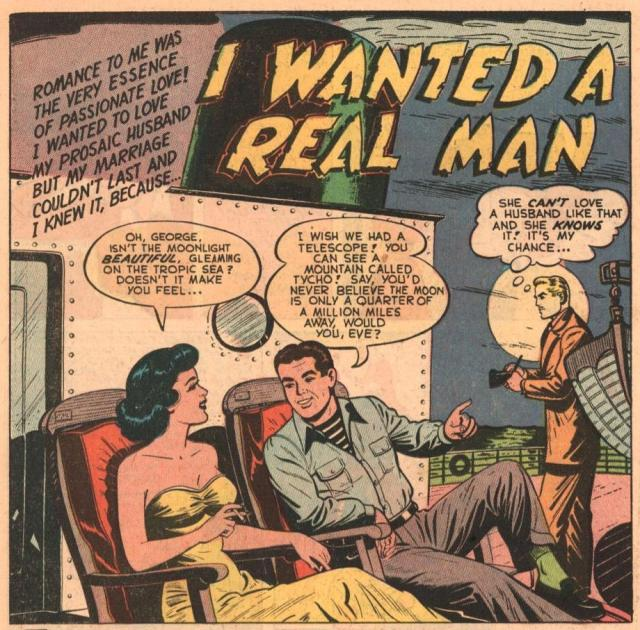 Amateur astronomers do not get laid in 1950 romance comics