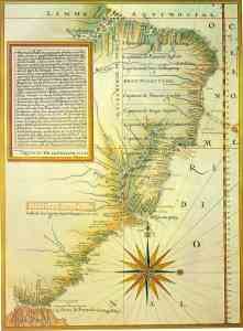 Portuguese map (1574) by Luís Teixeira