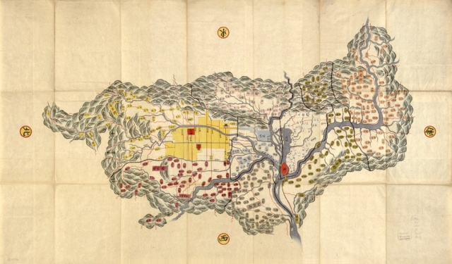 Map of Yamashiro Province, Author Unknown (19th Century)