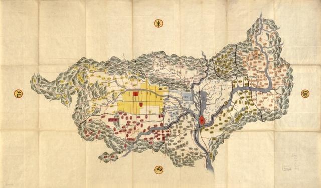 Map of Yamashiro Province, Author Unknown (19th Century)