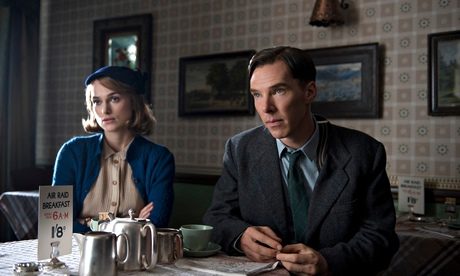 Benedict Cumberbatch as Alan Turing with Keira Knightley as Joan Clarke in The Imitation Game. Photograph: Allstar/Black Bear Pictures