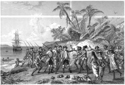 Bougainville reaching Tahiti