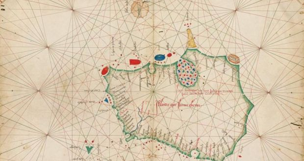 The map is contained in an atlas made in Venice in 1468. Irish Times: Photograph: Christie's