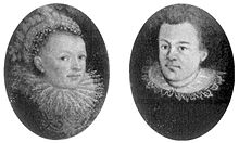 Portraits of Kepler and his first wife in oval medallions