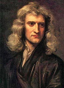 Godfrey Kneller's 1689 portrait of Isaac Newton (age 46).
