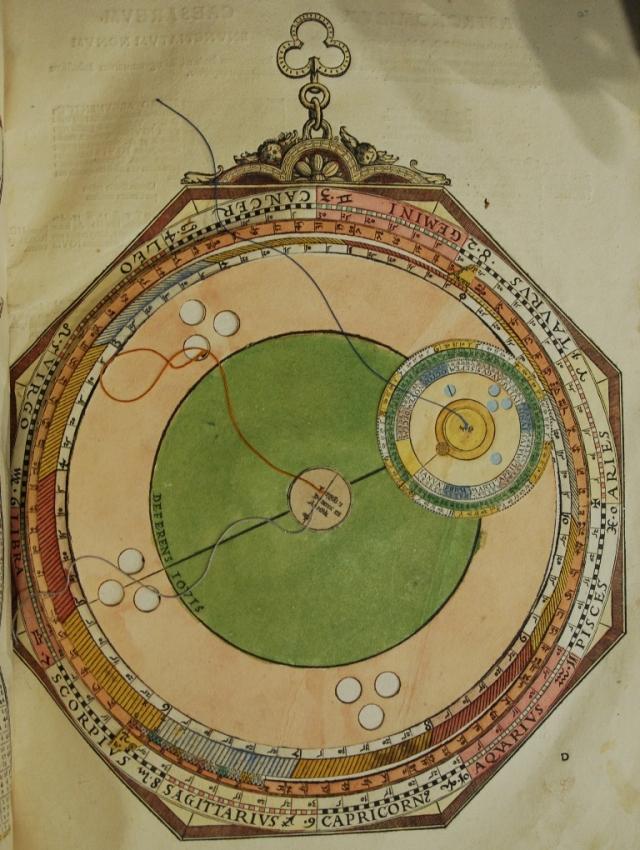 Equatorium of Jupiter, from Peter Apian's Astronomicum Caesareum (1540)