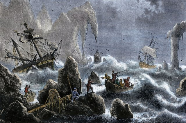 Vitus Bering's expedition is wrecked on the Aleutian Islands in 1741