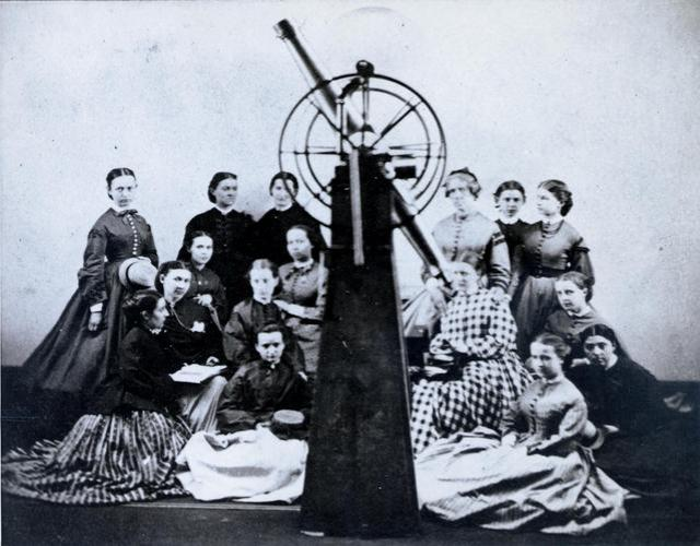 First Astronomy Class at Vassar College 1866