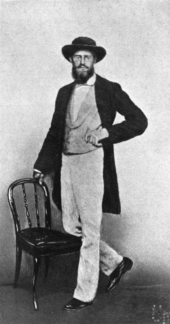 A photograph of A.R. Wallace taken in Singapore in 1862