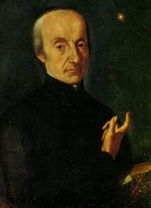Giuseppe Piazzi points the way to his discovery, the planet Ceres. (Dawn's route there is more complex than Piazzi might have guessed.) Credit: Osservatorio Astronomico di Palermo - S