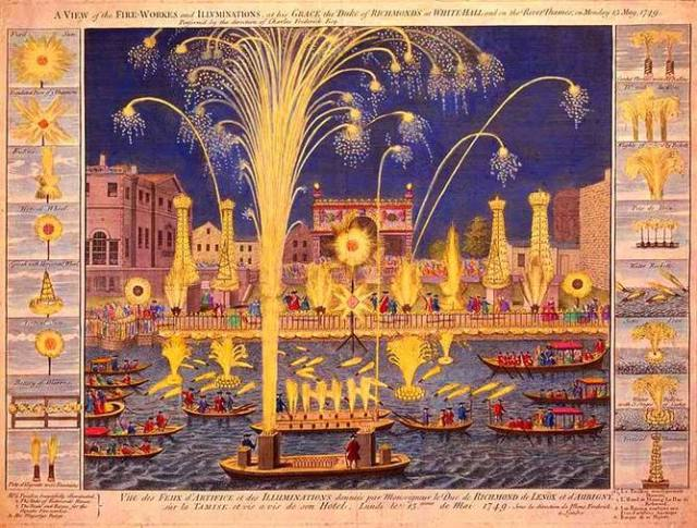 Fireworks on the River Thames, Monday May 15 1749.