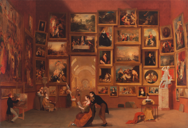 Samuel F. B. Morse, Gallery of the Louvre, (1831–1833