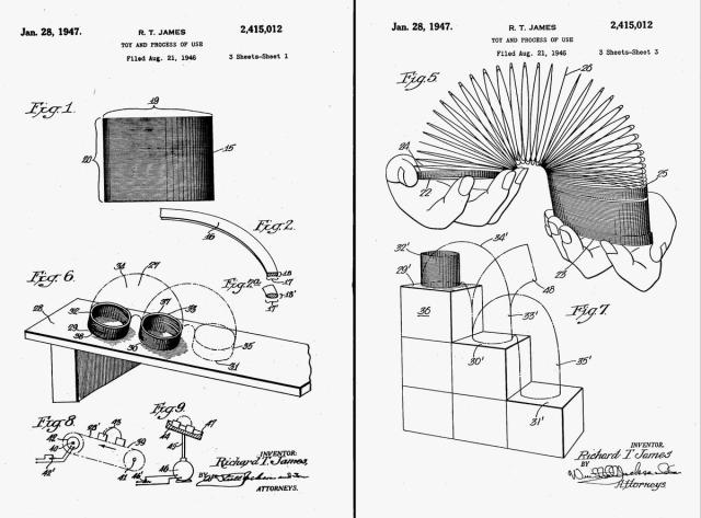 Images from James' patent, filed in August 1946 and approved January 1947
