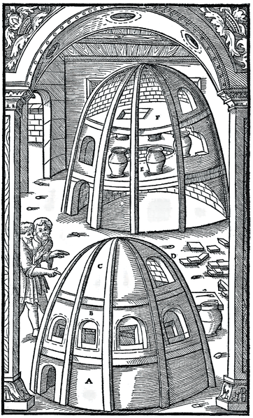 "From ""De re metallica""  Agricola (Georg Bauer) 1556."