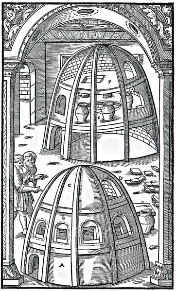"From ""De re metallica""  Agricola (Georg Bauer) 1556."
