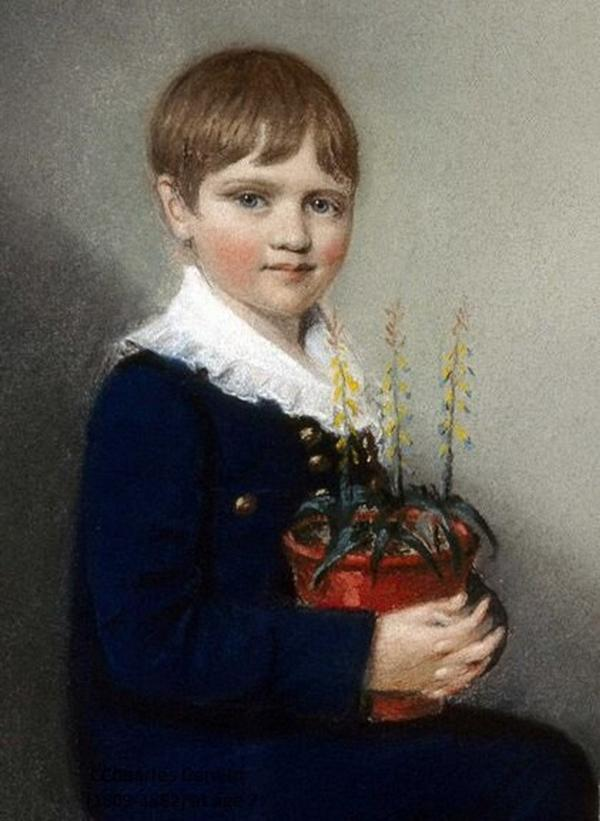 Charles Darwin, six years old — February 12 1815