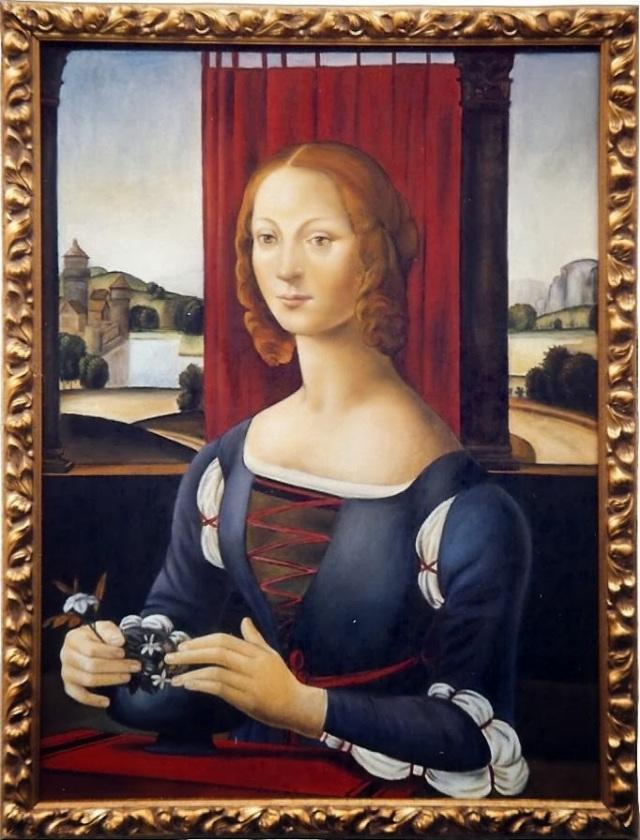 Caterina Sforza, by Lorenzo di Credi (now in the Museum of Forlì.)