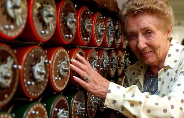 Jean Valentine, a bombe operator at Bletchley in the 1940s. Rui Vieira/PA