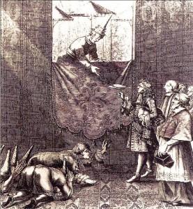 King Narai receiving the French Embassy, 1685. Wikimedia Commons