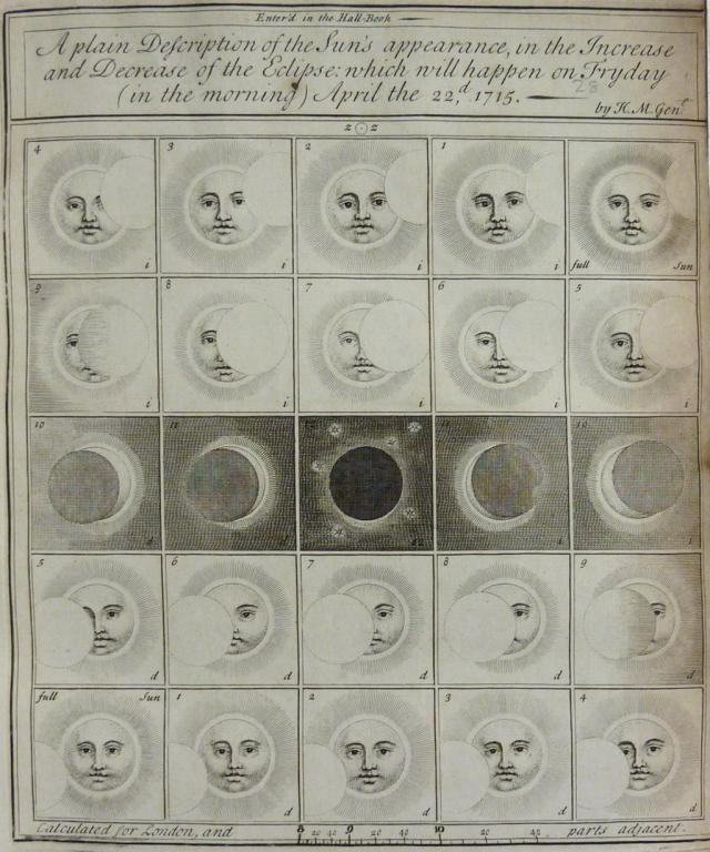A plain description of the Sun's appearance in the Eclipse on Fryday (in the morning) April, 1715