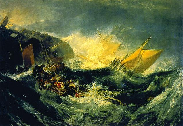 Reflected glory 'The Shipwreck of the Minotaur' (1810) by JMW Turner, who was the first to tear down the distinction between subject and object, presaging what would be later known as impressionism. Source: Wikimedia Commons