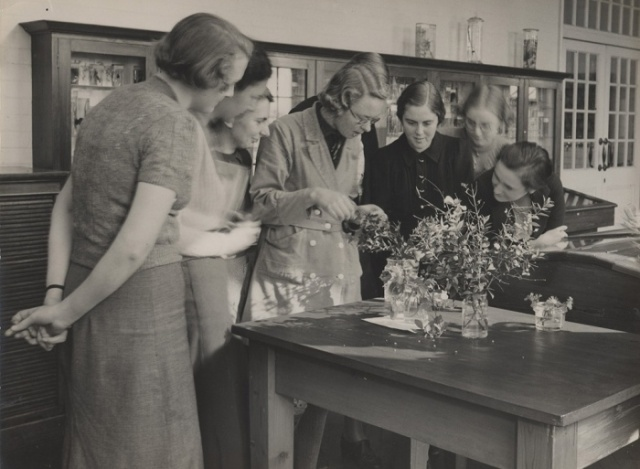 Royal Holloway College botany class in 1937. Photograph: Archives, Royal Holloway, University of London Source: The Guardian