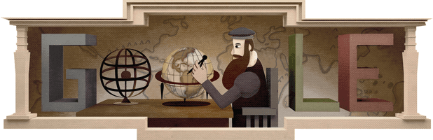 Gerardus Mercator's 503rd Birthday Google Doodle