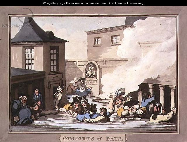The Comforts of Bath, 1798. Thomas Rowlandson. Image Credit: Wikigallery.org