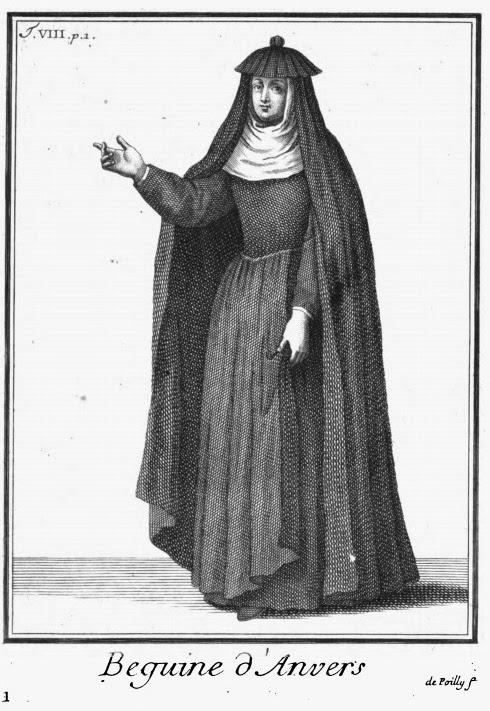 A Béguine of Antwerp, from Pierre Hélyot, L'Histoire des ordres monastiques… 1719 (v.8)