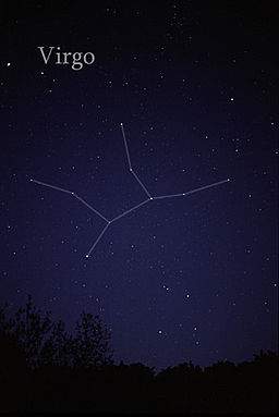The constellation Virgo Source: Wikimedia Commons
