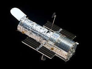 The Hubble Space Telescope Source: Wikimedia Commons