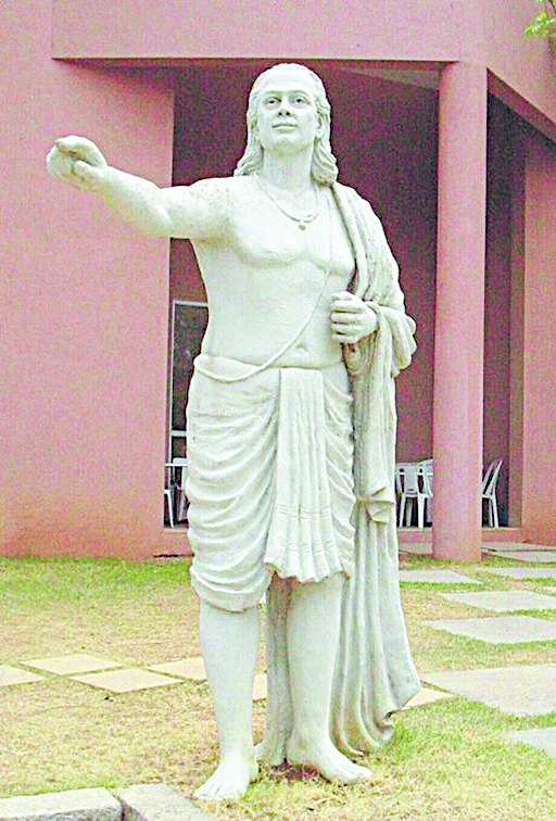 Statue of Aryabhata on the grounds of Inter-University Centre for Astronomy and Astrophysics, Pune
