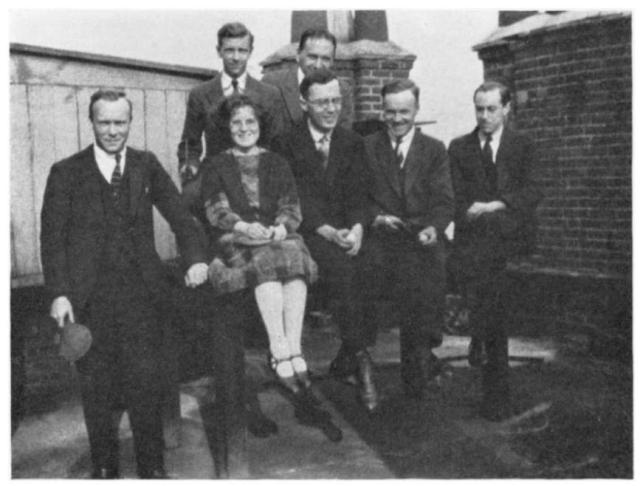 Kathleen Yardley with her fellow students at the Royal Institution, via her Biographical Memoir