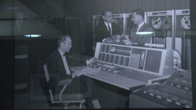 The exhibit shows how the field of computer science has changed since the 1950s. (WLFI Photo/Purdue University)