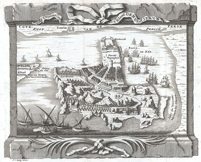 Eiland Ormus, of Jerun, engraved by Jacob Van der Schley under the supervision of J. Bellin for the c. 1750 edition of Provost's L`Histoire Generale des Voyages