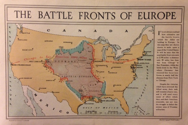 The battle fronts of Europe - Stanford's Geographical Establishment [1917]