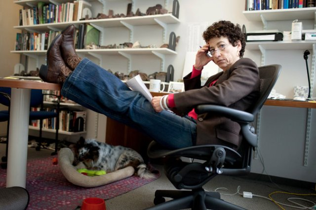 Naomi Oreskes in her office at Harvard University's Science Center. She has been praised by climatologists for communicating climate science to the public. Kayana Szymczak for The New York Times