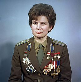 Tereshkova in 1969 Source: Wikimedia Commons