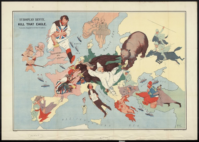 European Revue, Kill that Eagle, Published by Geographia in 1914 and drawn by J. Amshewitz. C1 (407)