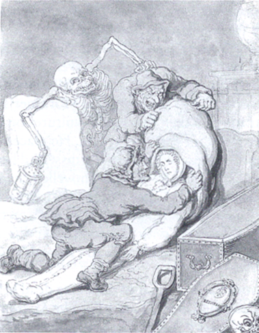 Thomas Rowlandson: Resurrection Men, 18th century.  Source: Wikimedia Commons