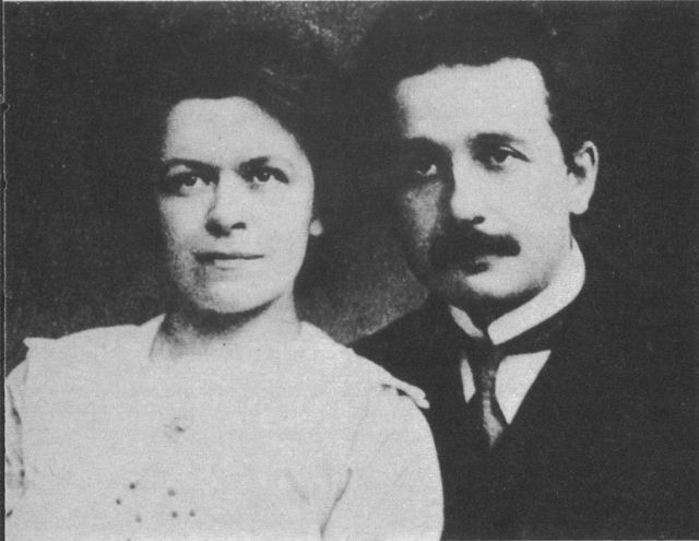 Albert Einstein and his wife Mileva Maric Source: Wikimedia Commons