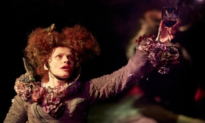 Maxine Peake in the eponymous role in The Skriker at The Royal Exchange Theatre in Manchester. Photograph: Christopher Thomond for The Guardian