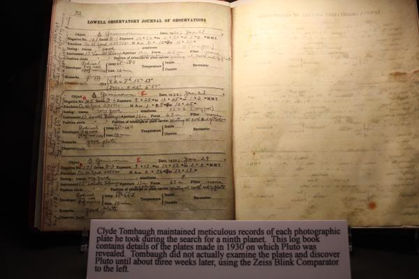 Clyde Tombaughs notebook