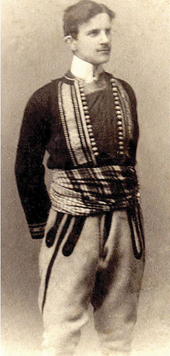 Tesla wearing a folk costume, c. 1880 Source: Wikimedia Commons