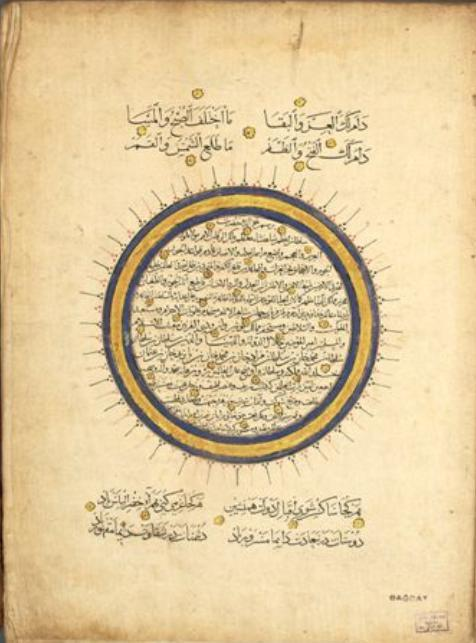 Traditional Turkish Calendar (1452). This kind of calendar was based on a cycle of 12 months, each corresponding to a different animal. This calendar for the year of the monkey by Hamdi Mustafa b. Sunbul was presented to Mehmed II. Topkapi Palace Museum Library, MS B 309.